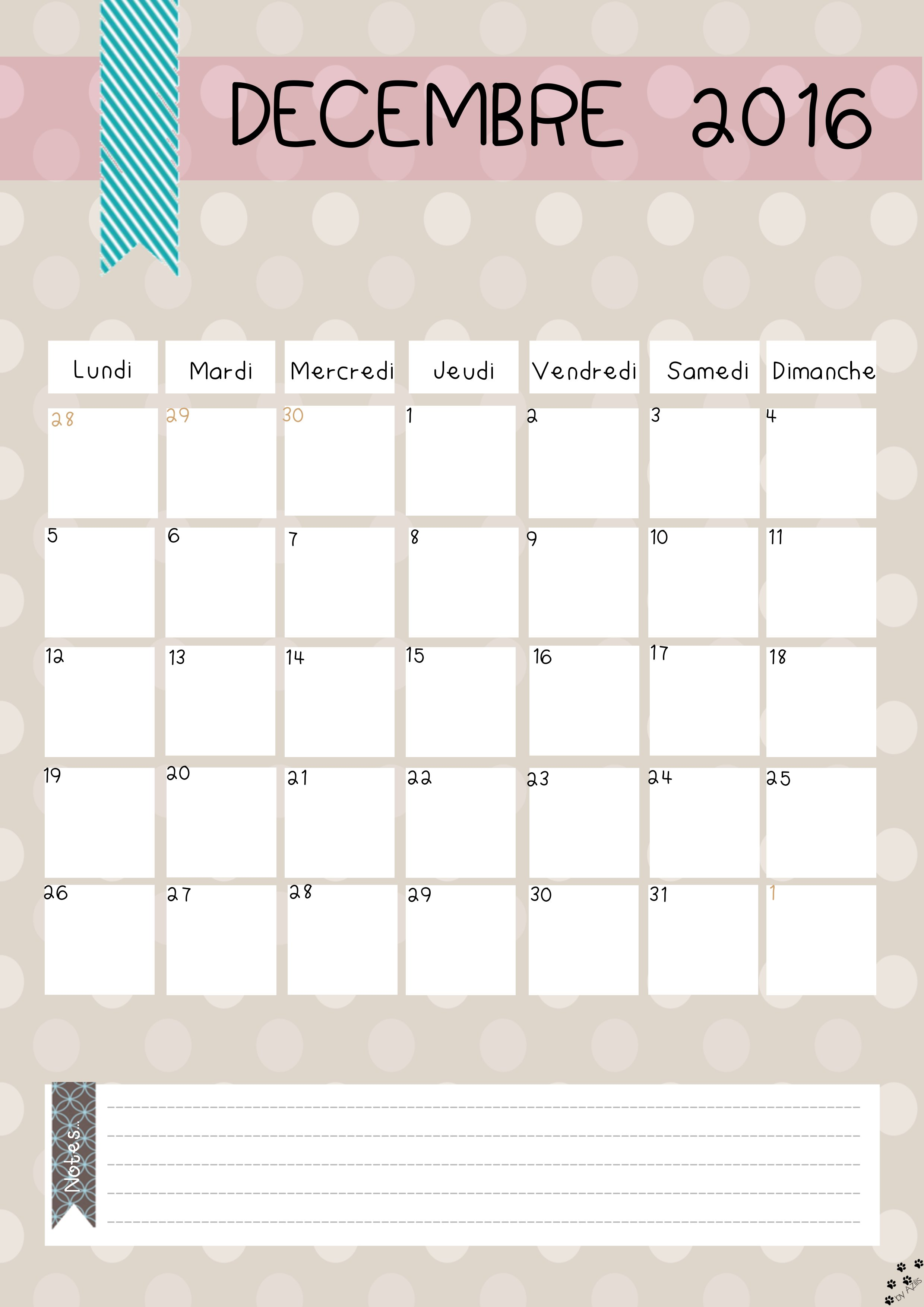 Diy calendrier 2016 gratuit imprimer - Calendrier du jardinier 2017 ...
