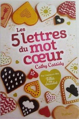 Les 5 lettres du mot coeur de CathyCassidy
