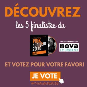 Prix Audiolib 2018 : à vous de voter!