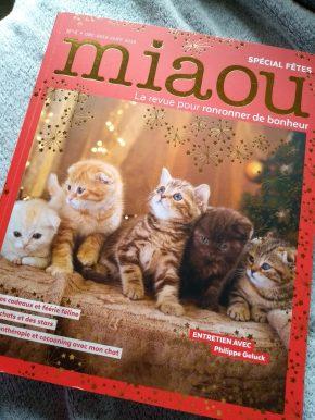 Miaou, la revue pour ronronner de bonheur : décembre 2018-janvier2019