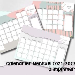 Calendrier 2021-2022 (gratuit, àimprimer)